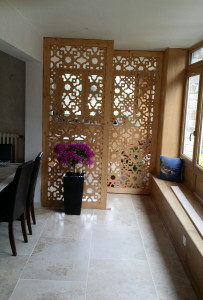 claustra bois pour salon