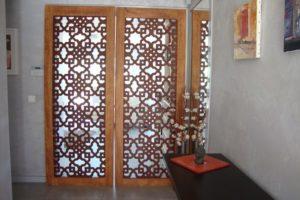 porte moucharabieh motif traditionnel