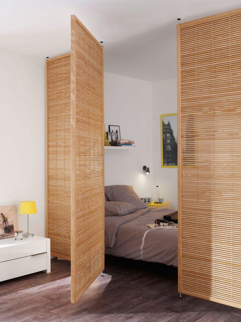 separation piece claustra paravent panneau japonais chambre