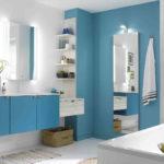 salle de bain couleur bleu idée déco