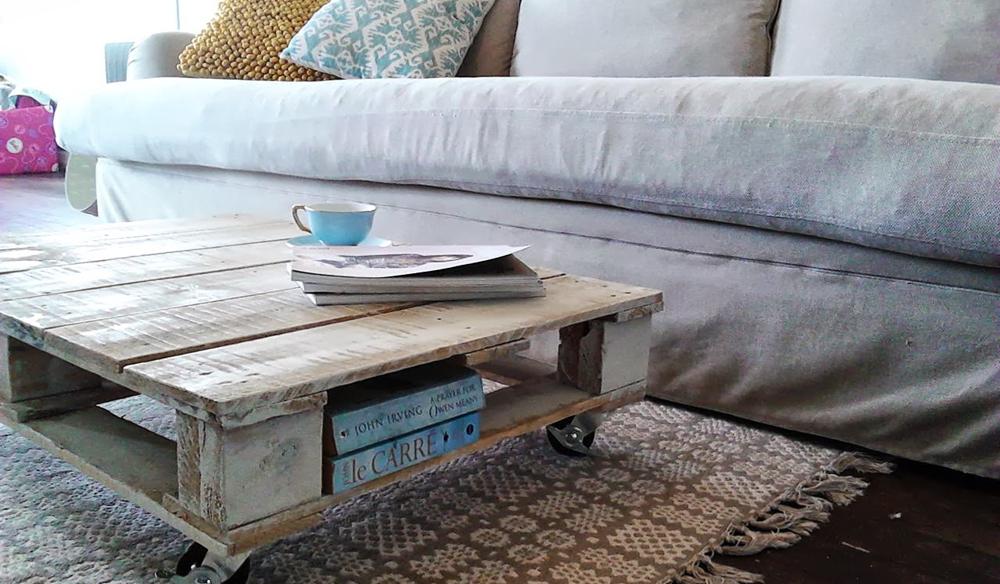 table basse sur mesure palette bois diy
