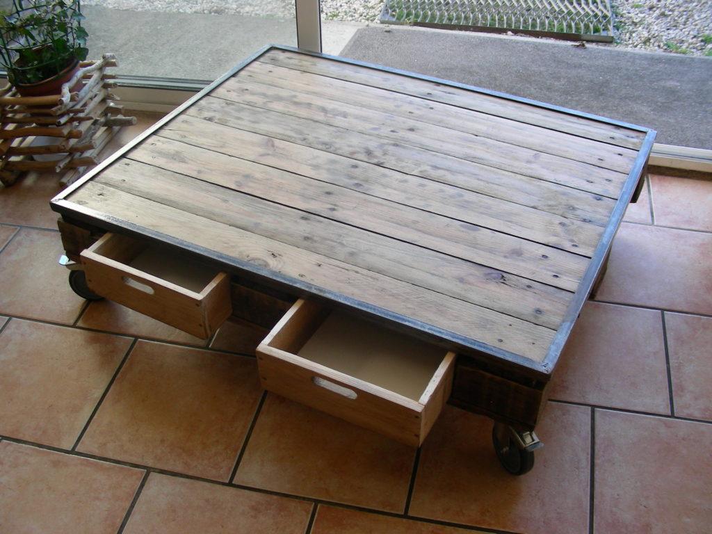 table basse bois sur mesure diy