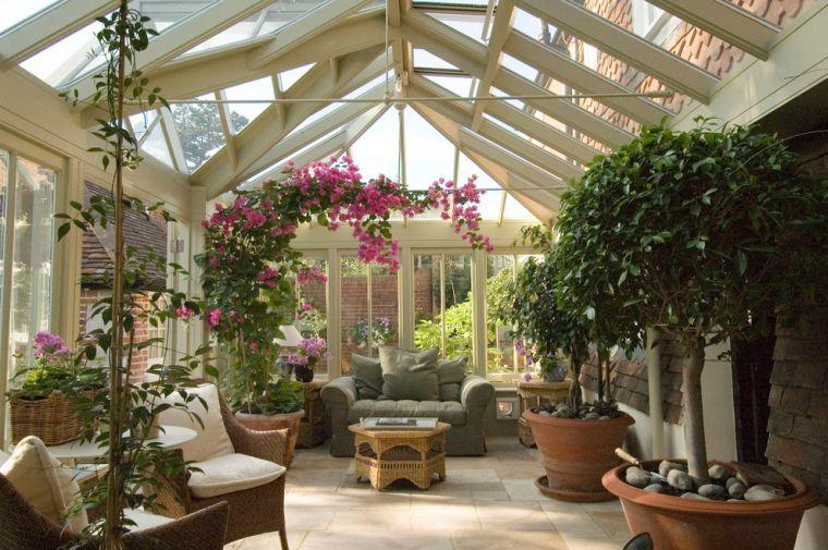veranda jardin hiver