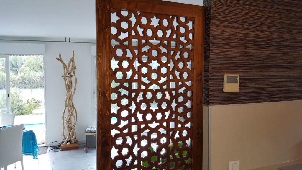 claustra bois oriental deco ethnique