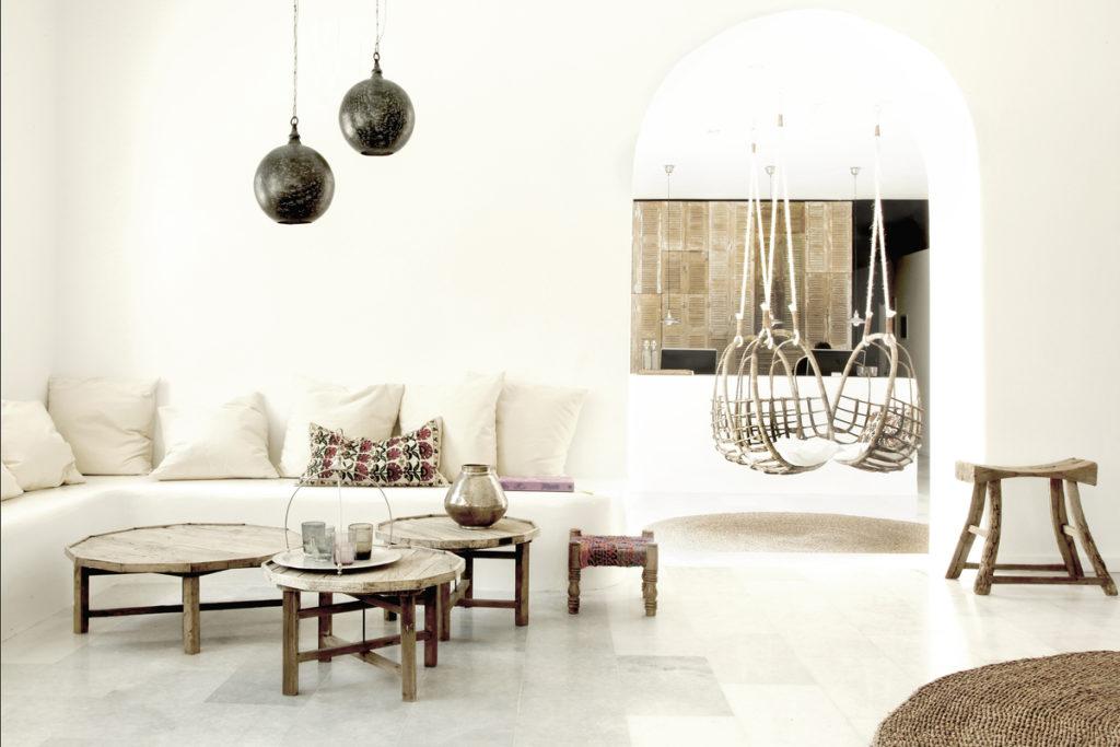 décoration ethnique moderne blanc