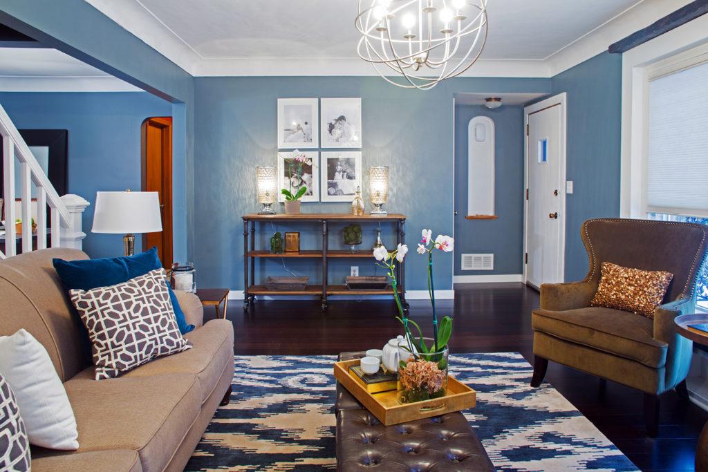 murs depareilles salon moderne couleur