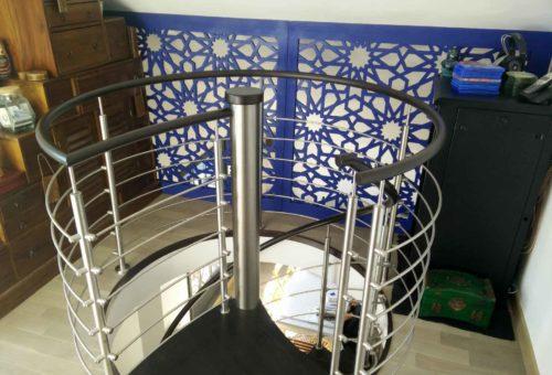 rambarde escalier pour mezzanine