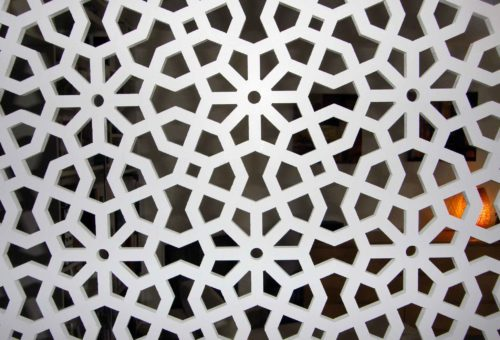 claustra design arabesque blanc