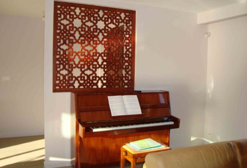 claustra bois marron
