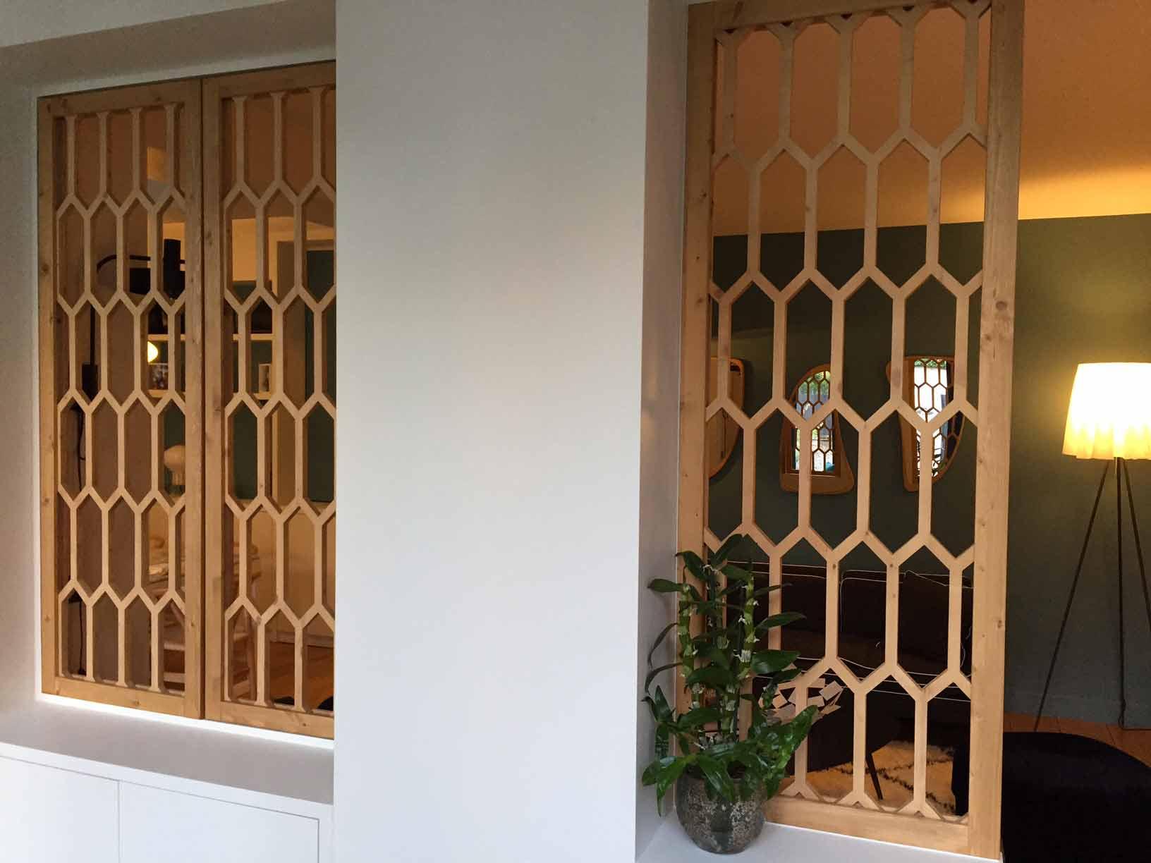 Claustra bois apicula - Separation de salon ...