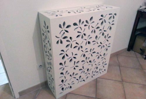claustra bois vegetal blanc