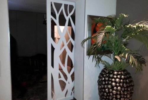 claustra intérieur porte coulissante bois
