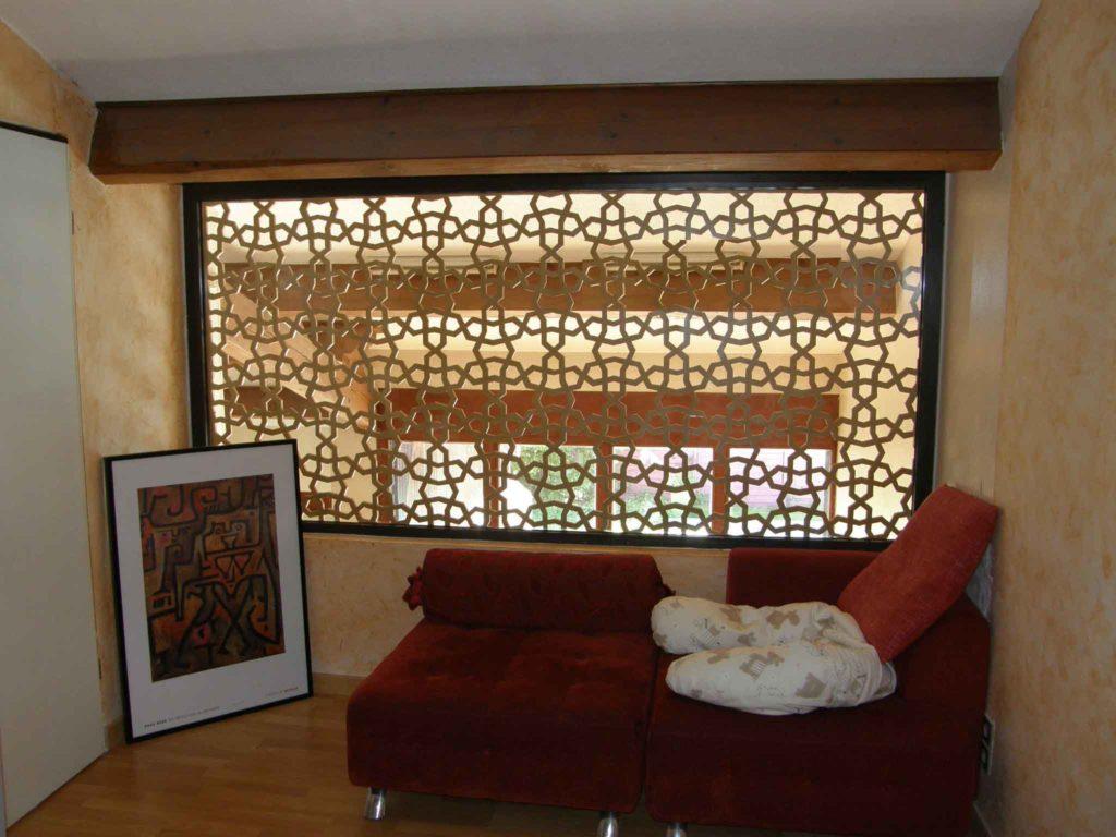 claustra bois intérieur salon
