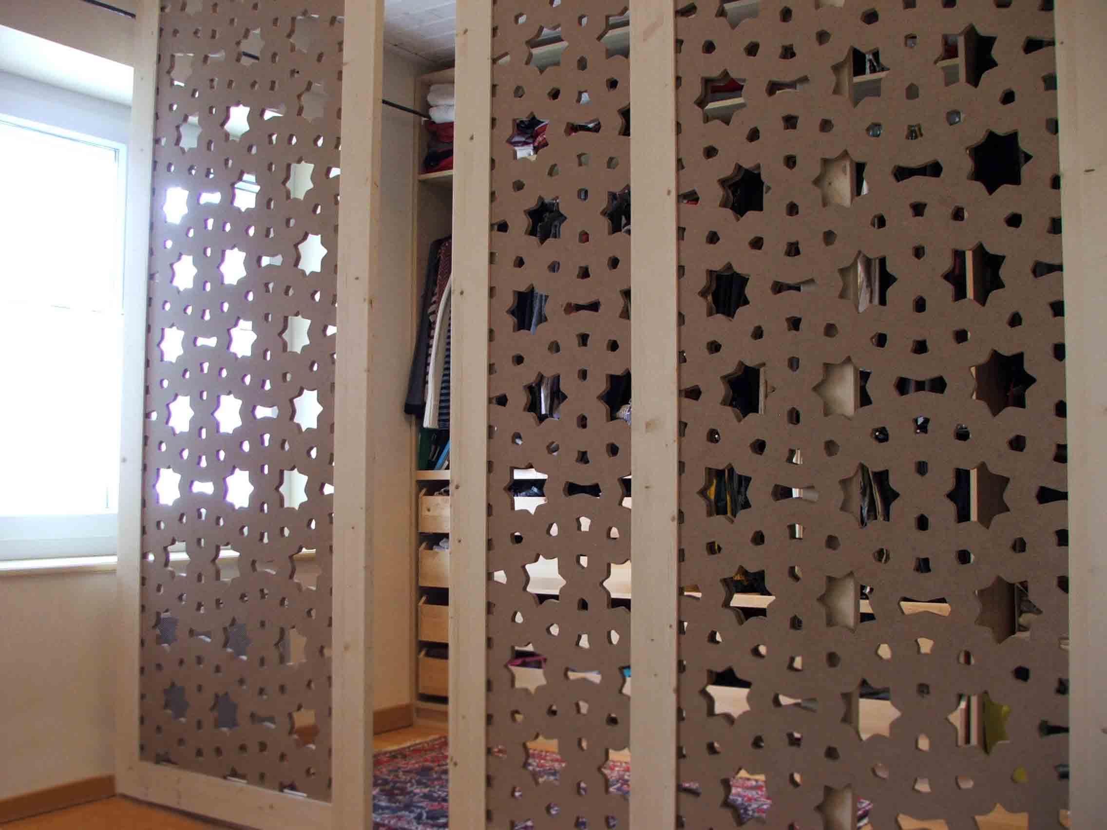 Fabriquer Un Claustra Bois porte de dressing en bois sur-mesure par allure et bois !