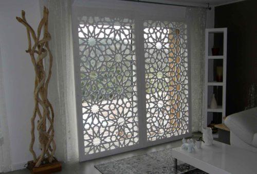 claustra ajouré bois blanc
