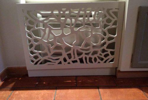 cache radiateur bois
