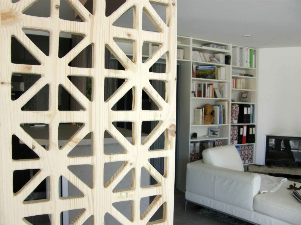 claustra intérieur blanc