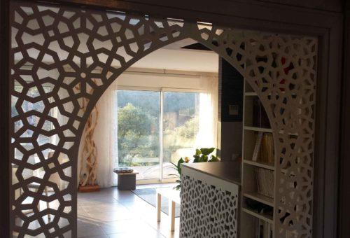 décor de porte bois