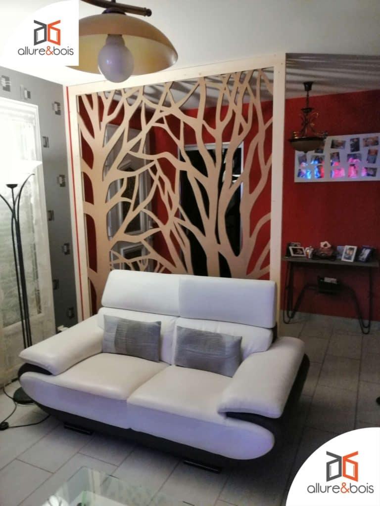 claustra bois brut