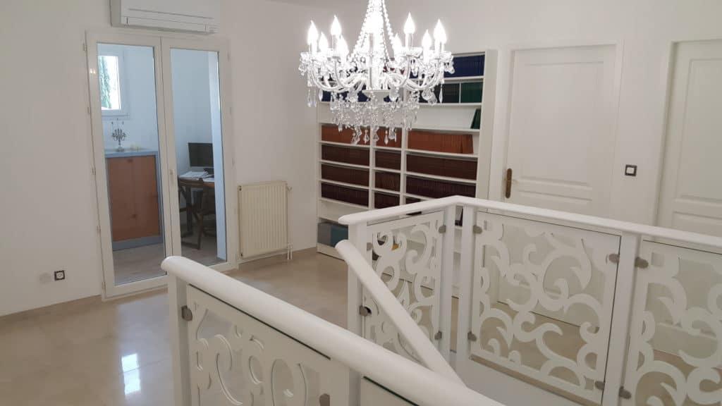 Rampe d'escalier sur-mesure de style Rococo