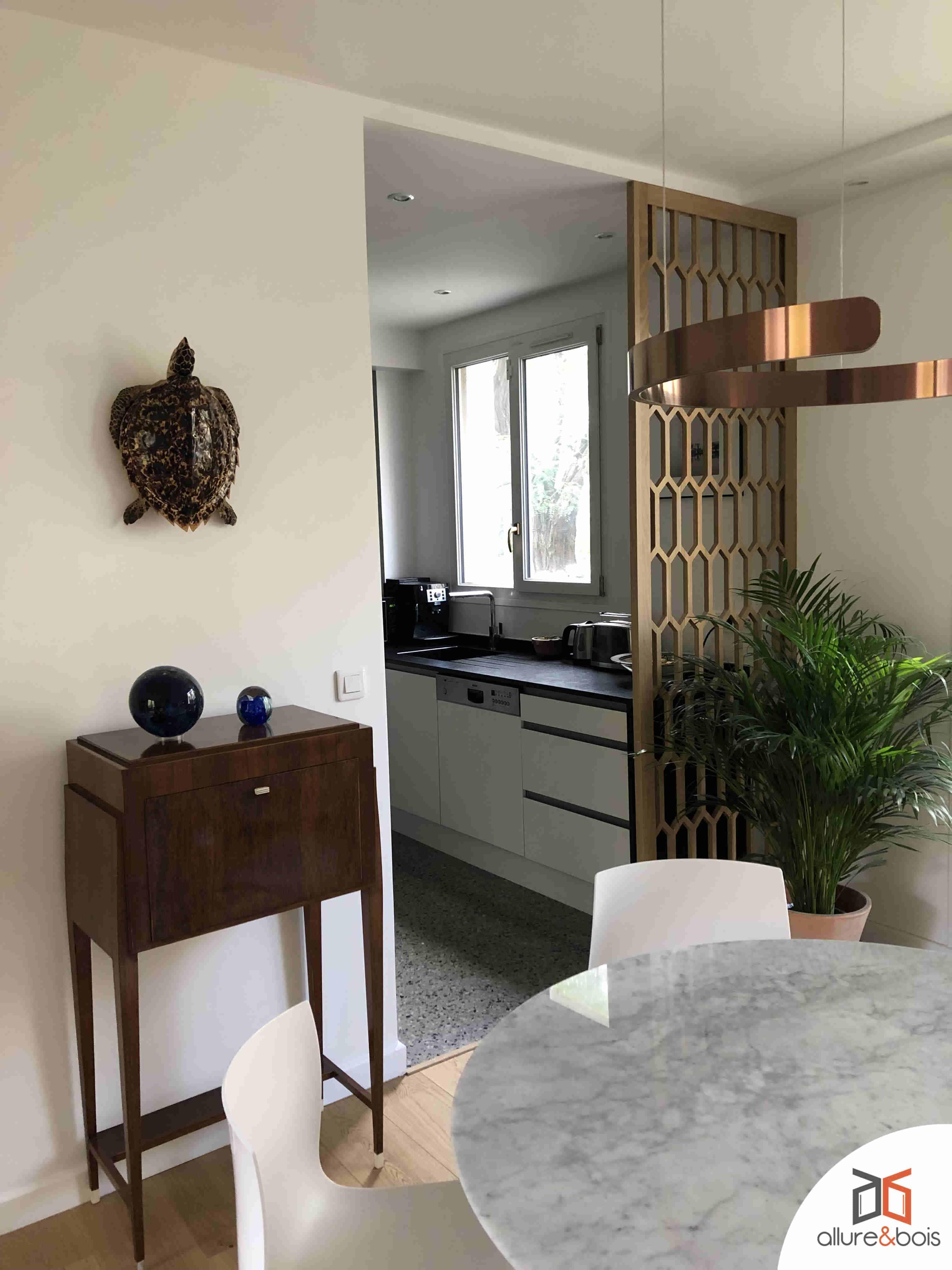 Porte Separation Salon Cuisine séparation entre cuisine et salon : les solutions allure et bois
