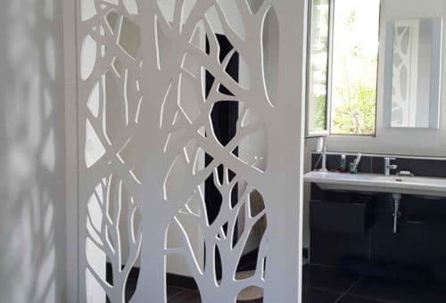 claustra au motif floral naturel