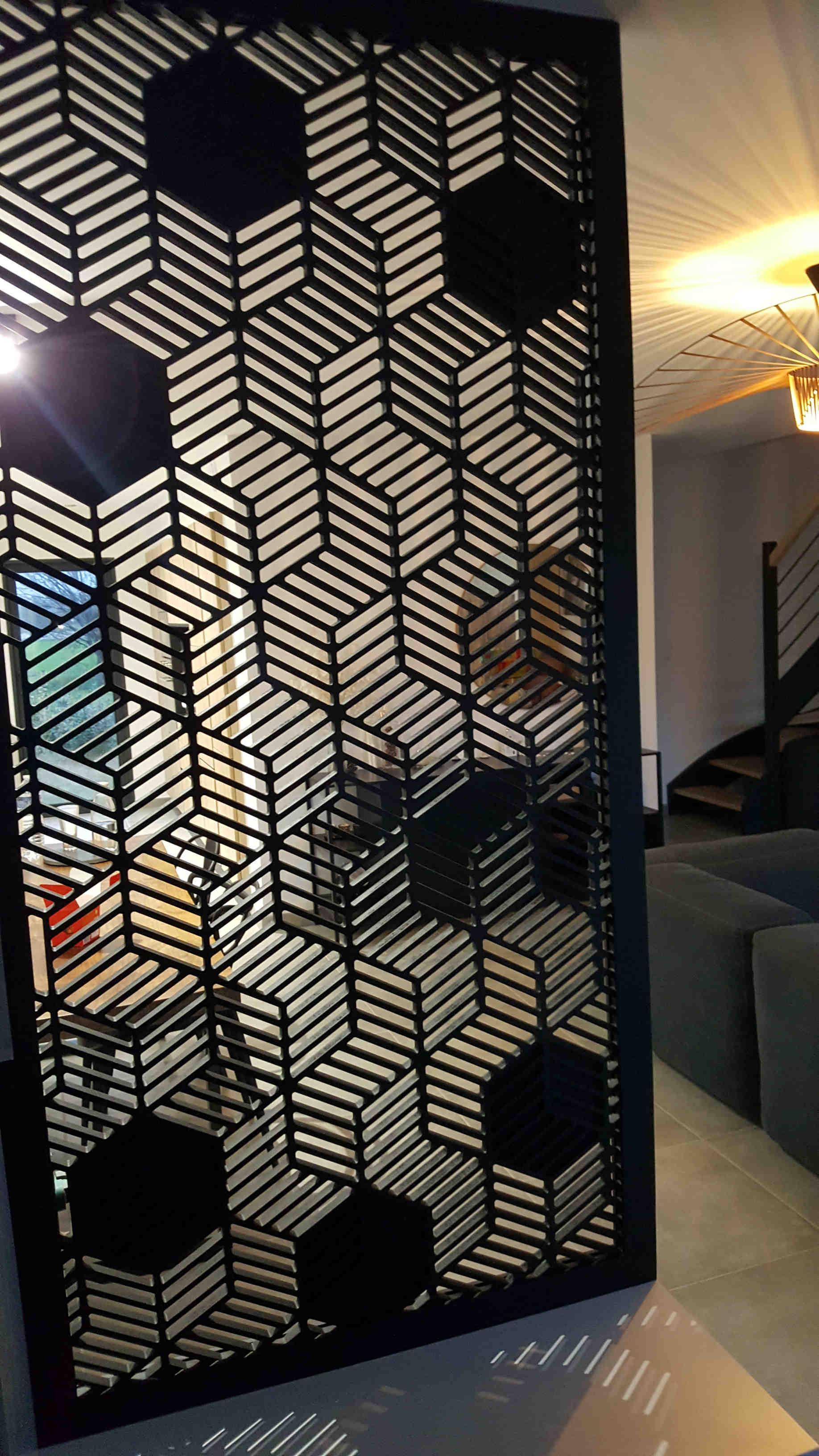 Claustra noir moderne pour salon