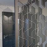 claustra moderne noir pour hall d'entrée