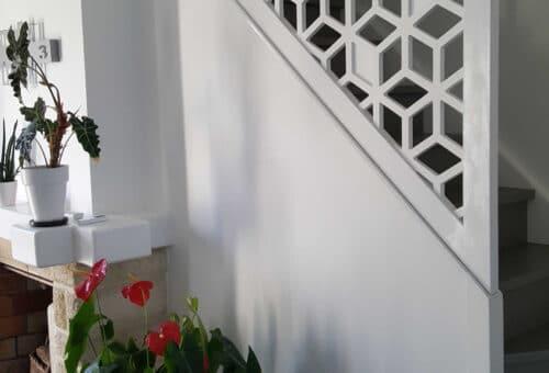 motif Polaris mis en relief pour garde corps d'escaliers