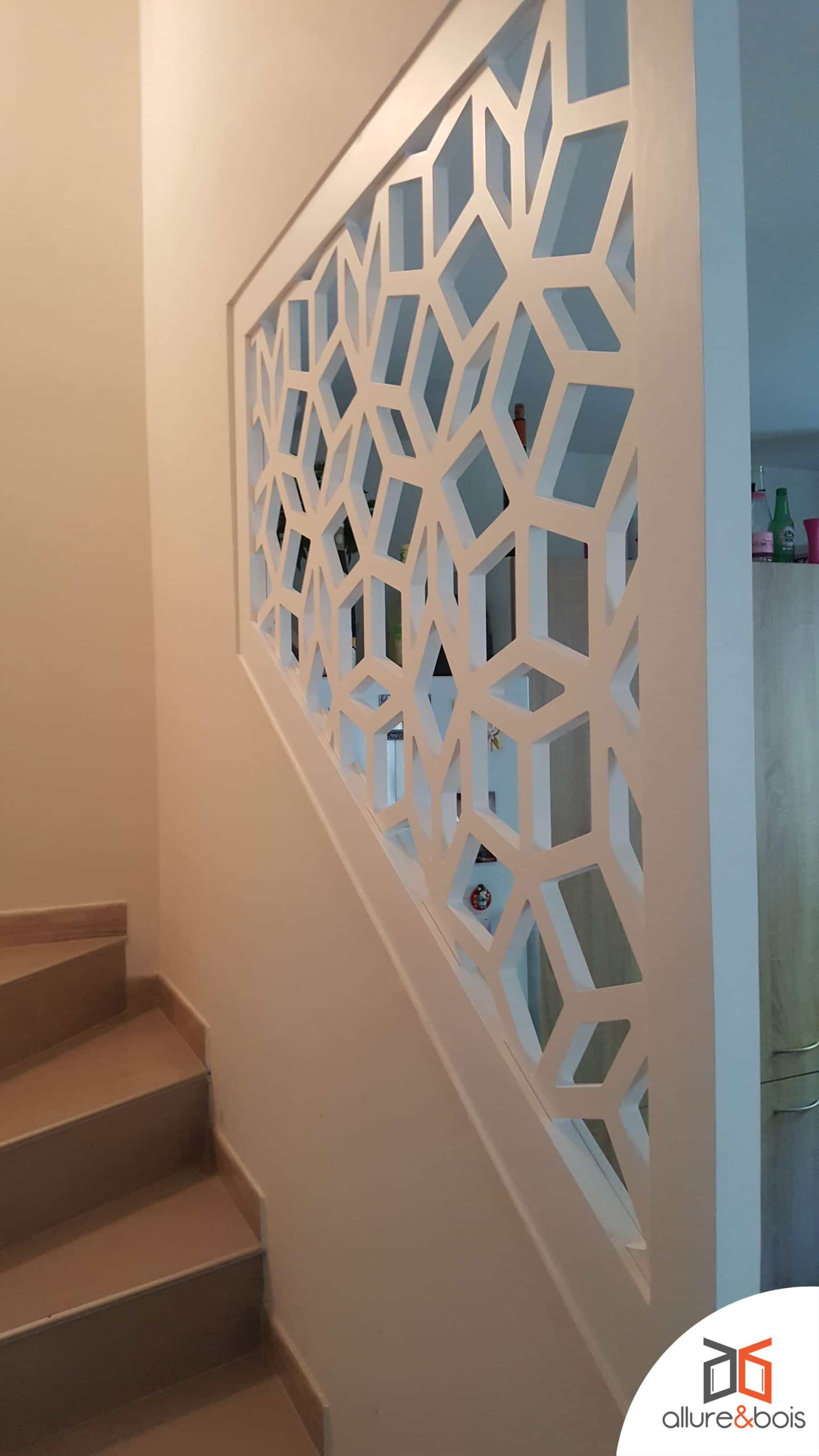 Claustra made in France pour garde corps d'escaliers