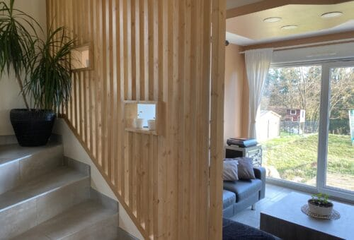 claire voie en bois pour garde-corps d'intérieur