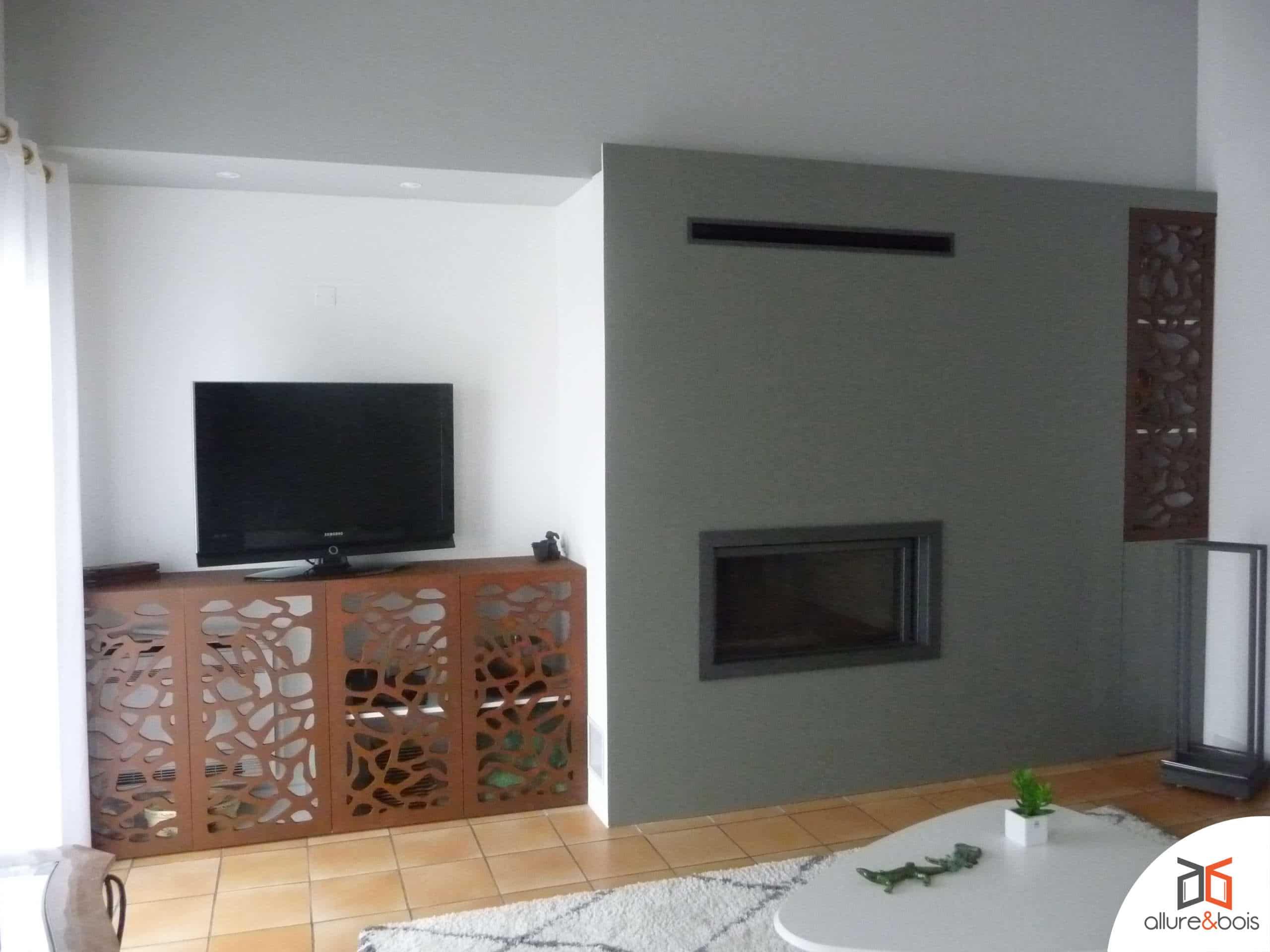 Meuble TV en bois sur-mesure