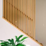 garde corps escalier lames bois