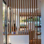 Mur intérieur en bois massif pour maison moderne
