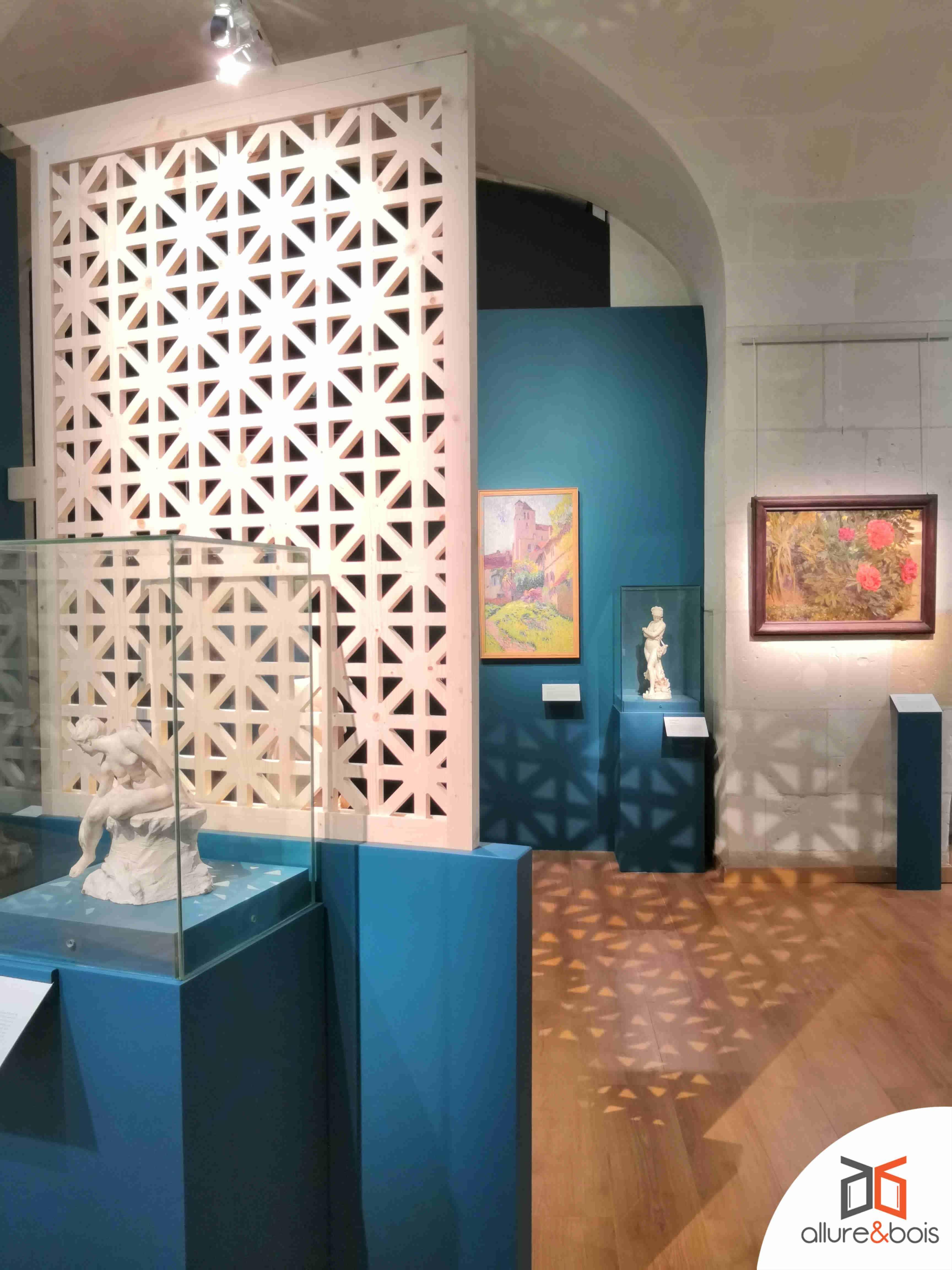 Séparation moderne avec motif traditionnel