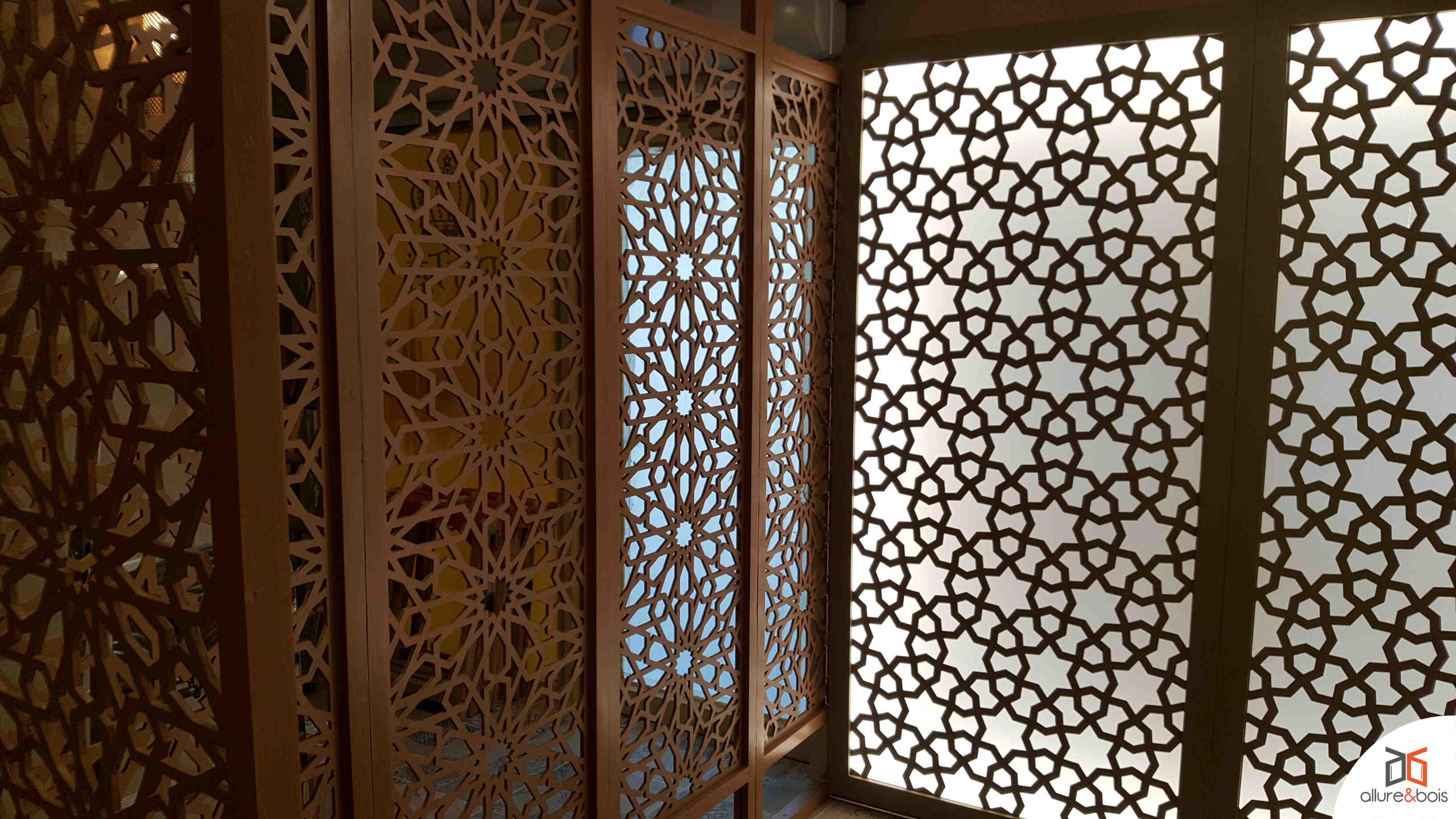 L'engagement Allure et Bois vis à vis du motif pour moucharabieh traditionnel arabe