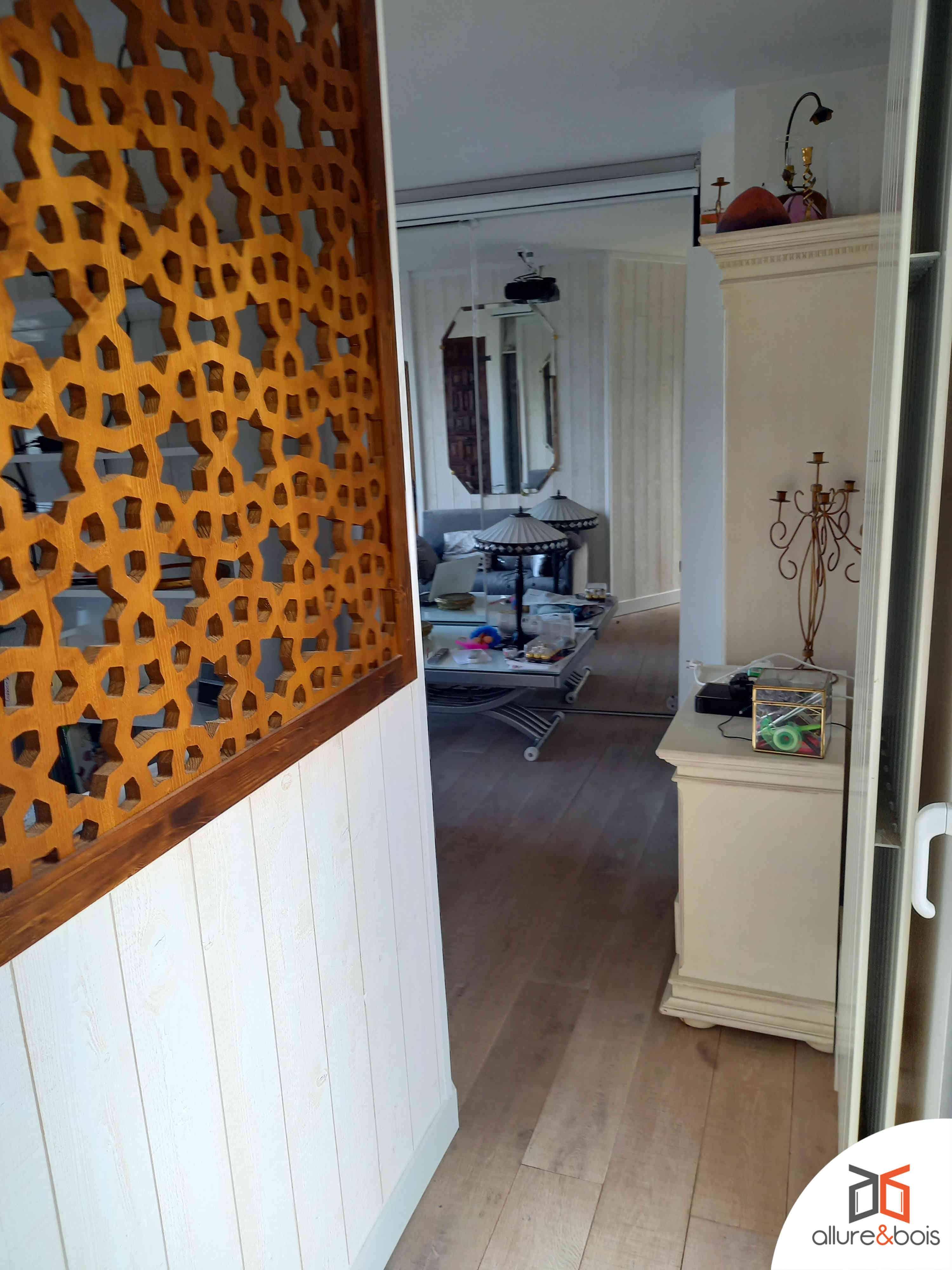 claustra bois couloir