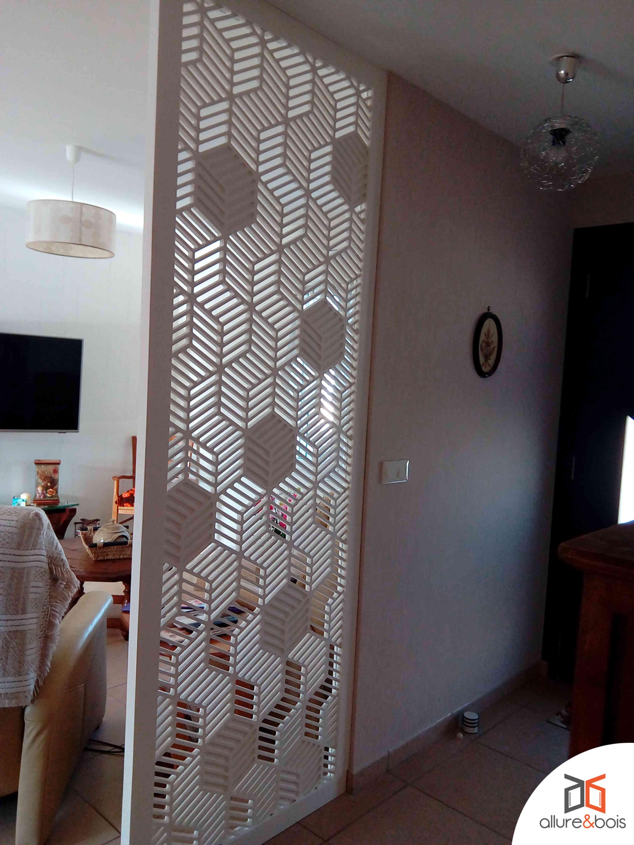 claustra bois pour couloir et salon