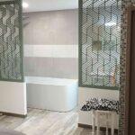 claustra salle de bain moderne vert