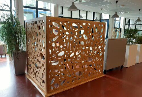 claustra bois moderne restaurant
