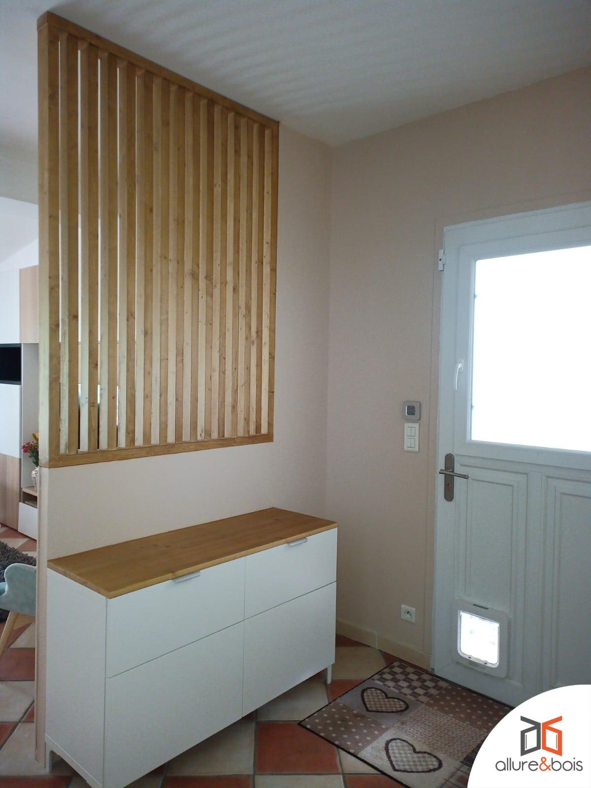 claire-voie en bois en cloison ajourée